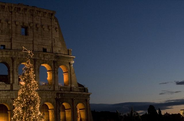 Colosseo in Roma , Natale