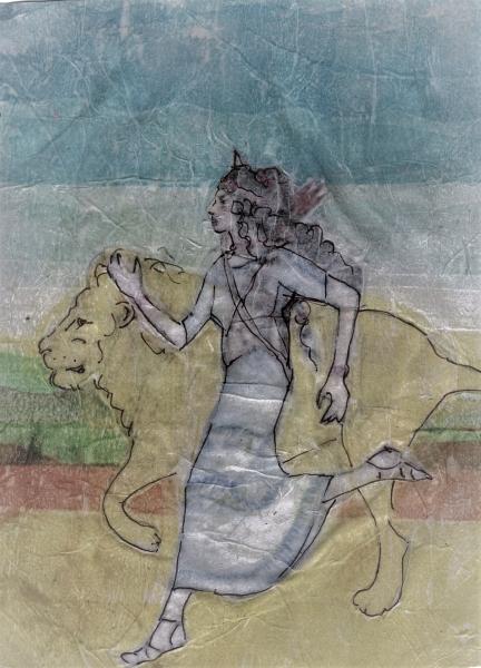 stampe artistiche quadri e poster con animali animali feroci femminile femminilita greca indipendenza leone mitologia persone atalanta pixtury com