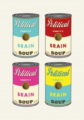 Political Brain (empty) soup colorful