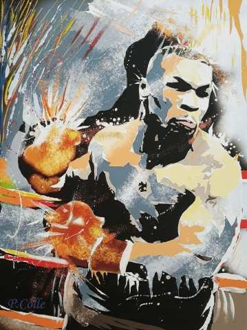 MIKE TYSON  pop art del M° Pasquale COLLE