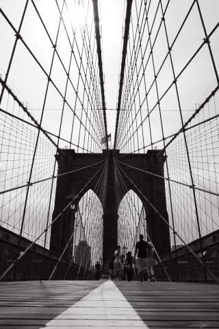 Modern print - Brooklyn Bridge