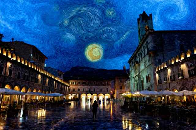 Starry Night in Ascoli Piceno