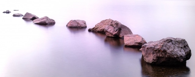 rocks in the loch