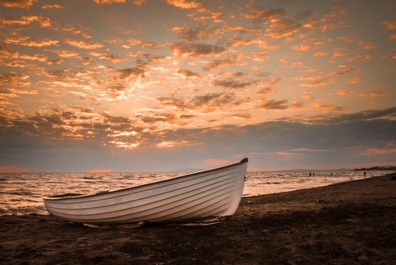 Bien connu Stampe artistiche, quadri e poster con barca, mare, nuvole  OS04