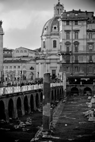 old rome black and white