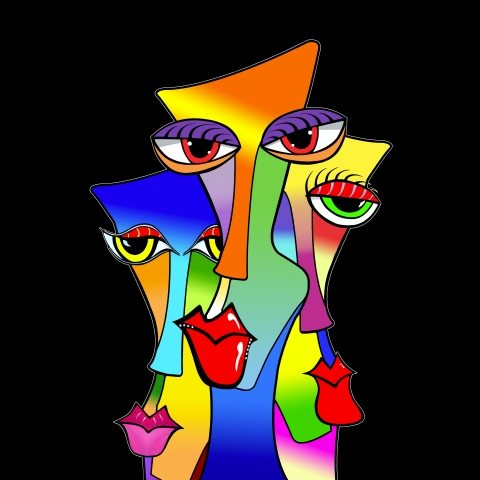 Abstract Pop Art