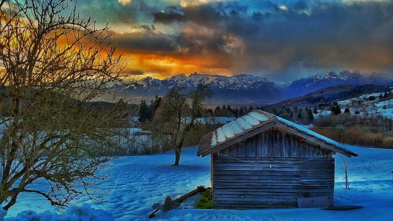 Stampe artistiche quadri e poster con inverno natura for Idee artistiche di progettazione del paesaggio