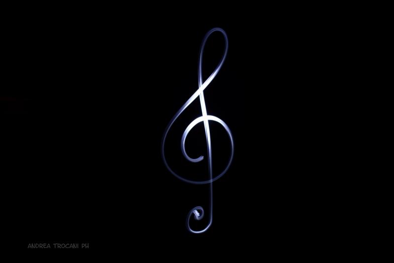 Stampe Artistiche Quadri E Poster Con Buio Chiave Di Violino Luce