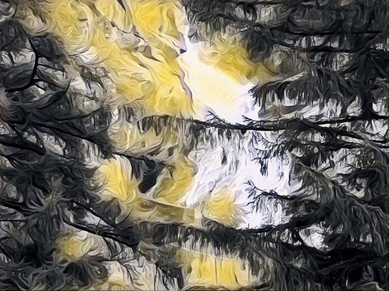 Stampe artistiche quadri e poster con alberi astratto cascata