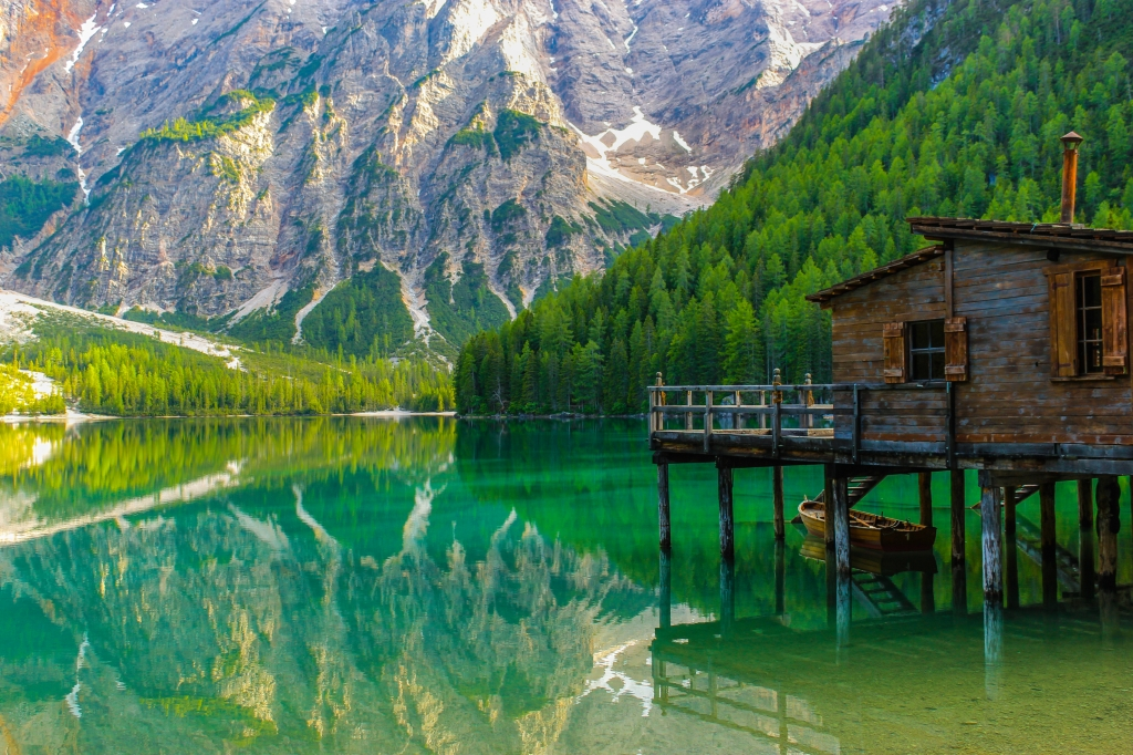 Stampe artistiche quadri e poster con alpi edificio for Disegni di laghi