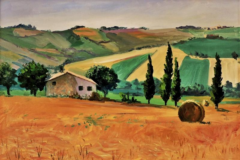Stampe artistiche quadri e poster con campo di grano for Stampe di campagna francese