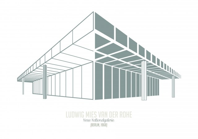 Archiposters - Ludwig Mies Had der Rohe