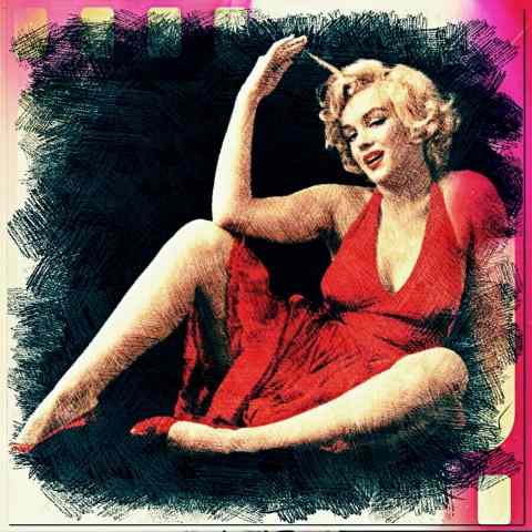 "Tableau moderne et impression - Marilyn Monroe "" woman spring """