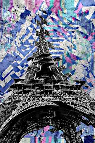 Quadro design e stampa artistica online - EARTHQUAKE IN PARIS