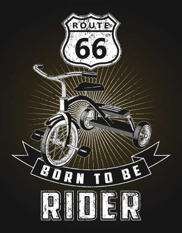 Stampa su tela e quadro moderno - born to be rider