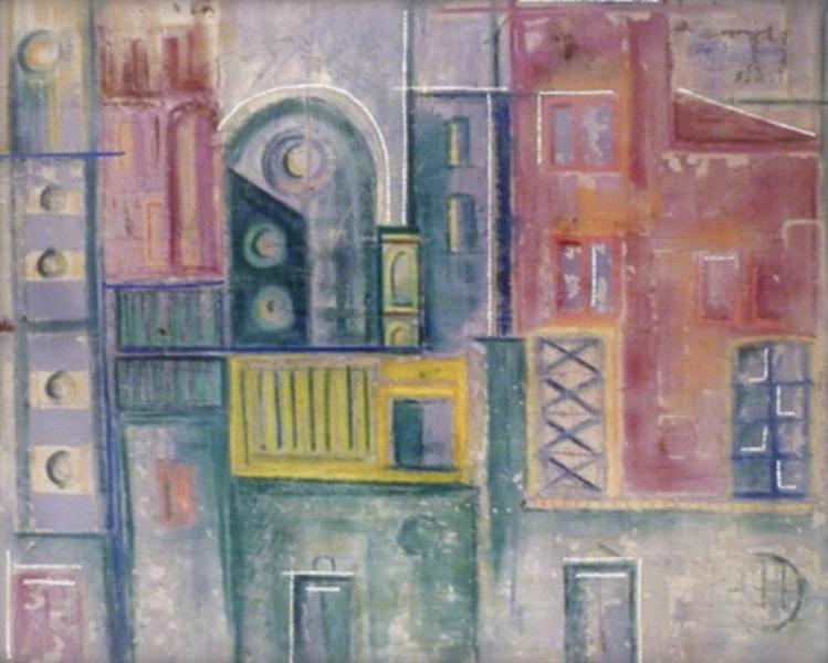 Stampe artistiche quadri e poster con astratto città edifici
