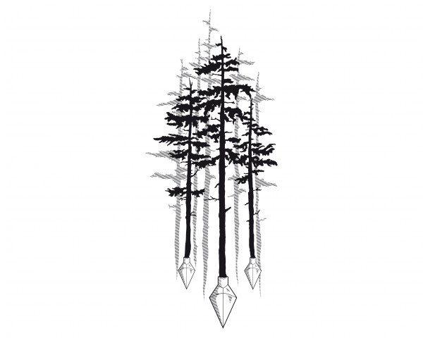 Tree and arrow tips