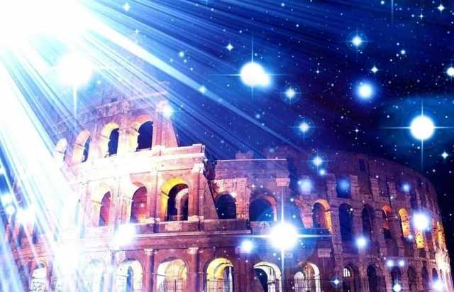 il colosseo tra le stelle