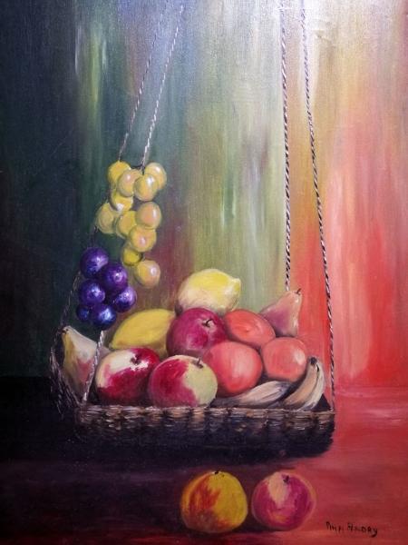 Stampe artistiche, quadri e poster con cesto, frutta, natura morta ...