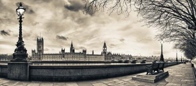 Quadro moderno e stampa - Houses of Parliament at Dusk