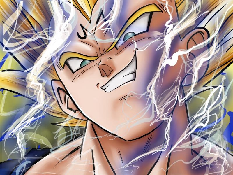 Impression Tableau Et Poster De Dragon Ball Z Majin Vegeta Fanart