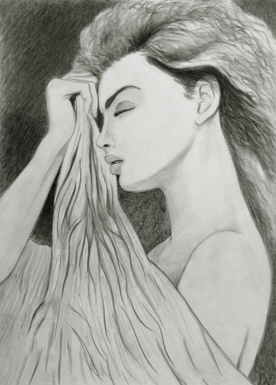 Stampe artistiche, quadri e poster con capelli, disegno ...