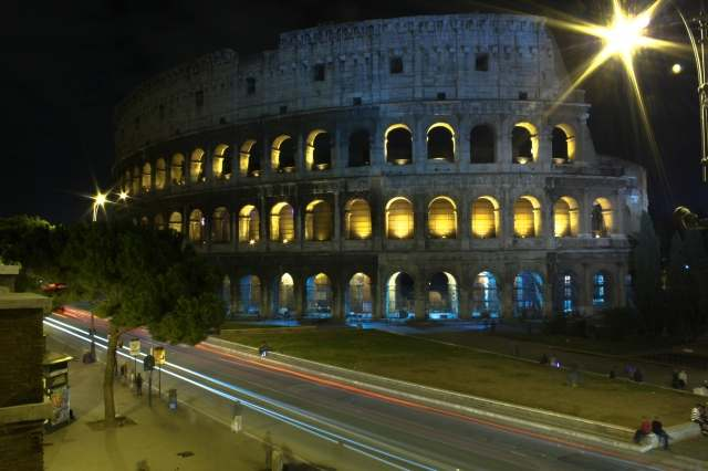 Colosseo e le sue luci
