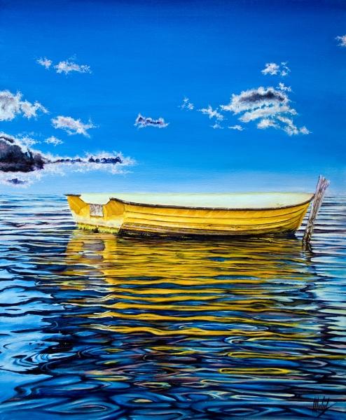 Stampe artistiche, quadri e poster con barca a remi, barca ...