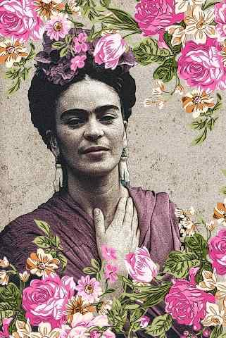 Frida Kahlo  Pop Art digitale astratto