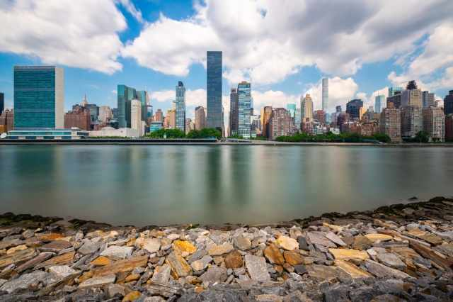 Manhattan vista da Roosevelt Island - New York