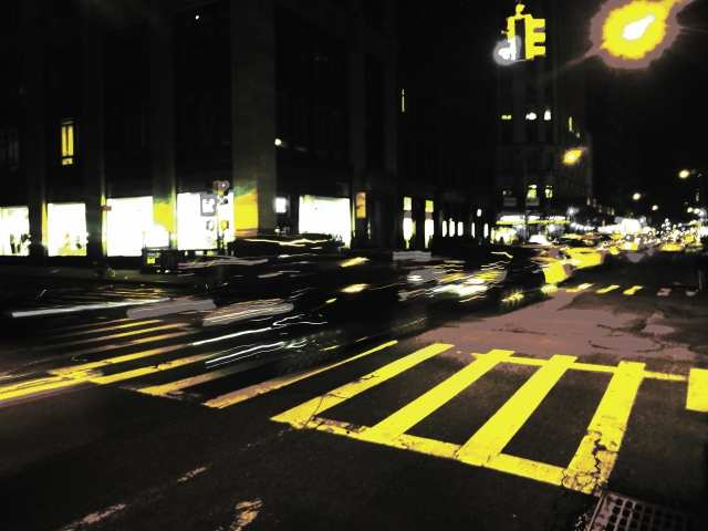 Tableau moderne et impression - Notte in giallo a Manhattan