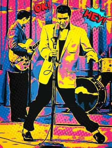Tableau moderne et impression - Elvis the pelvis