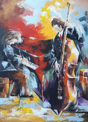 Tableau moderne et impression - Jazz music  dipinto del m° pasquale COLLE