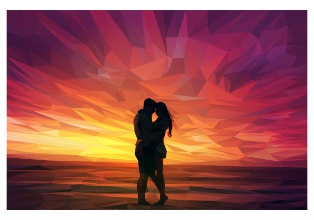 Love at the sunset