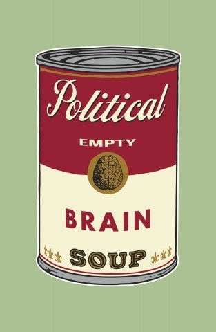Political Brain (empty) soup
