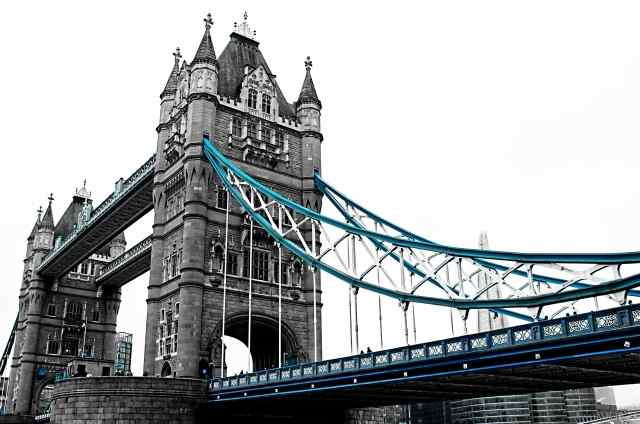 Quadro moderno e stampa - Londra - Tower Bridge  in bianco e nero II