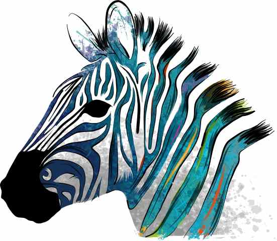 Tableau moderne et impression - colorful zebra